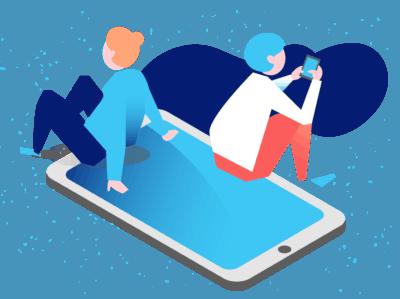 Gráfica personas celular